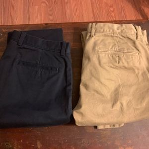 Lot of 2 J Crew 484 Slim Fit Chinos both 31x30